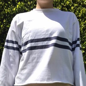 long sleeve with navy stripes